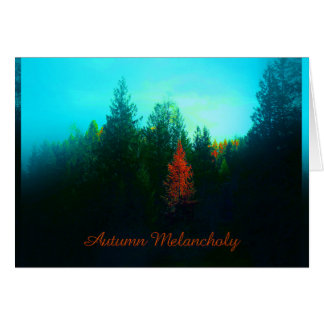 Autumn tendency digitally works on card