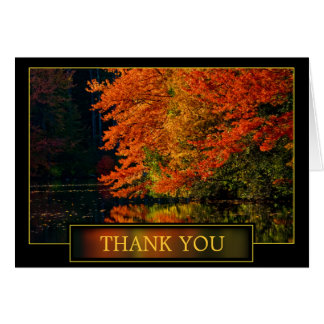 Autumn Thank You Acknowledgement Greeting Card