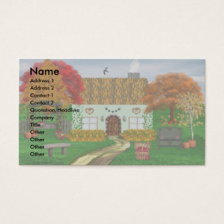 Autumn Thatched Cottage Business Cards