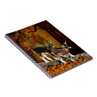 Autumn Theme Baby Goats Notebook