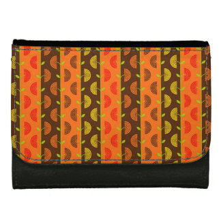 Autumn Theme Patterns Leather Wallet