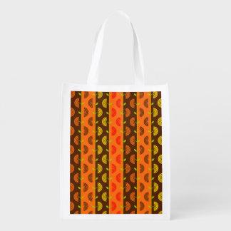 Autumn Theme Patterns Market Tote