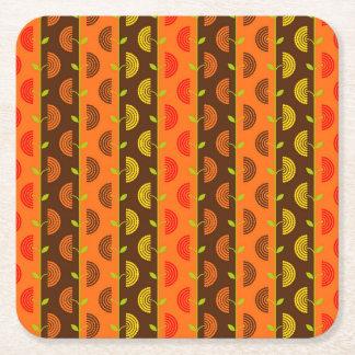 Autumn Theme Patterns Square Paper Coaster