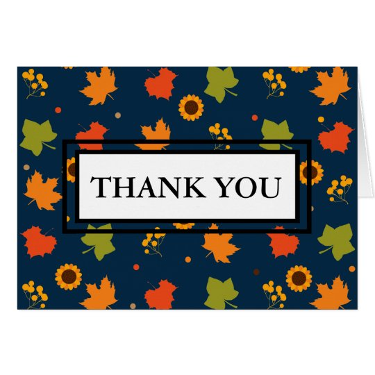 Autumn Theme Thank You Note Card
