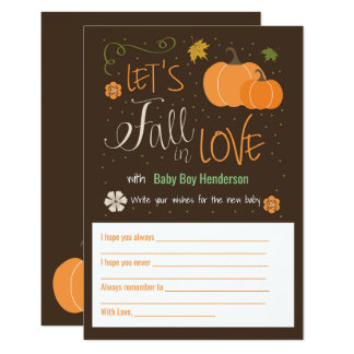 Autumn Themed Baby Wish Cards | Fall in Love