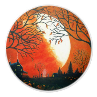 Autumn themed cabinet/furniture knobs ceramic knob