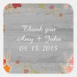 Autumn themed wedding sticker tags autm4