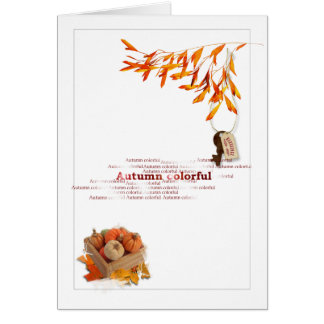 Autumn Time Greeting Card