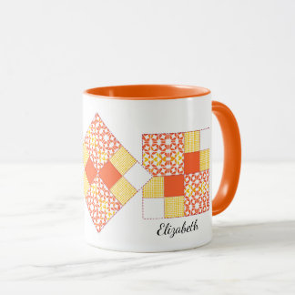 Autumn Tints Quilt Block Pattern Mug
