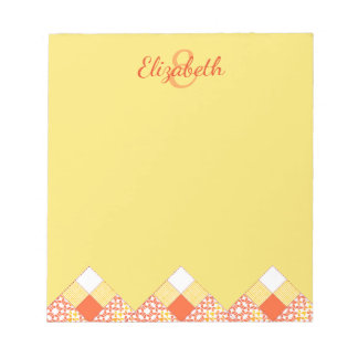 Autumn Tints Quilt Block Pattern Notepad