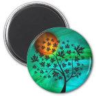 Autumn Tree and Harvest Moon Magnet