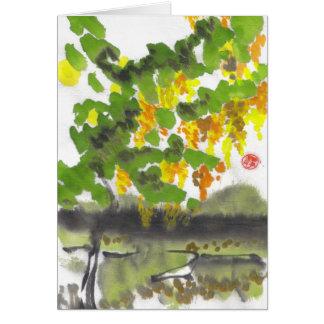 Autumn Tree Blank Card