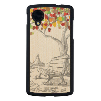 Autumn Tree, Falling Leaves Carved® Maple Nexus 5 Case