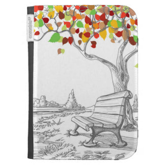 Autumn Tree, Falling Leaves Kindle 3 Case