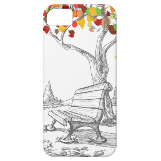 Autumn Tree, Falling Leaves Case For The iPhone 5