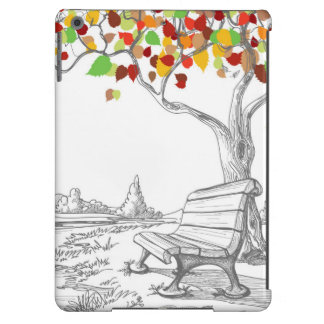Autumn Tree, Falling Leaves Cover For iPad Air