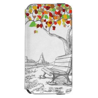 Autumn Tree, Falling Leaves Incipio Watson™ iPhone 6 Wallet Case