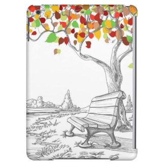 Autumn Tree, Falling Leaves iPad Air Cover