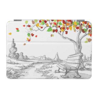 Autumn Tree, Falling Leaves iPad Mini Cover