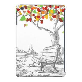 Autumn Tree, Falling Leaves iPad Mini Retina Cover