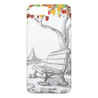 Autumn Tree, Falling Leaves iPhone 7 Plus Case