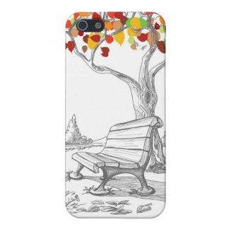 Autumn Tree, Falling Leaves iPhone 5 Case