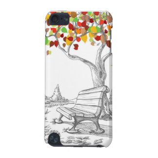 Autumn Tree, Falling Leaves iPod Touch 5G Cases