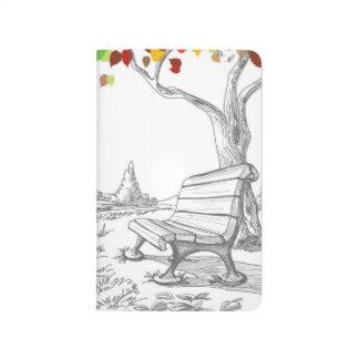 Autumn Tree, Falling Leaves Journal