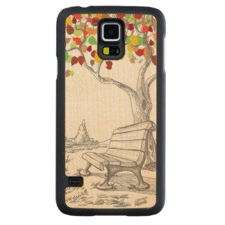 Autumn Tree, Falling Leaves Maple Galaxy S5 Slim Case