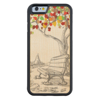 Autumn Tree, Falling Leaves Maple iPhone 6 Bumper Case