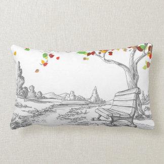 Autumn Tree, Falling Leaves Pillows