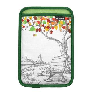 Autumn Tree, Falling Leaves Sleeve For iPad Mini