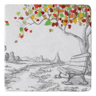 Autumn Tree, Falling Leaves Trivet