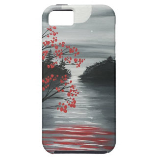 Autumn Tree in Moonlight iPhone 5 Covers