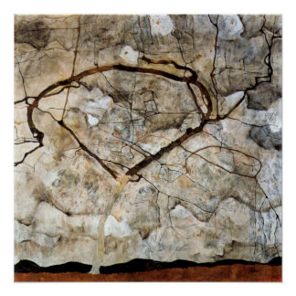 Autumn Tree in Movement by Egon Schiele Poster