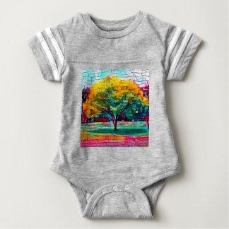 Autumn tree in vivid colors baby bodysuit