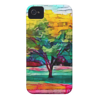 Autumn tree in vivid colors iPhone 4 Case-Mate cases