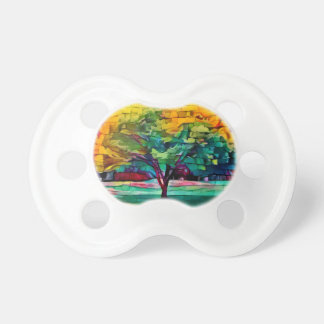 Autumn tree in vivid colors pacifier