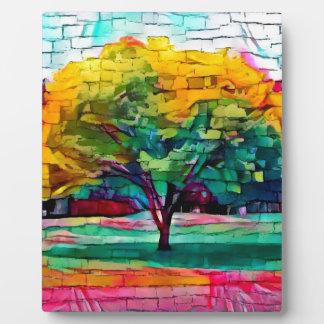 Autumn tree in vivid colors plaque