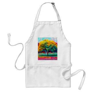 Autumn tree in vivid colors standard apron