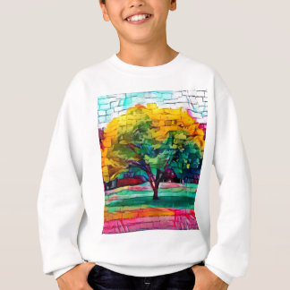 Autumn tree in vivid colors sweatshirt