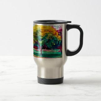 Autumn tree in vivid colors travel mug
