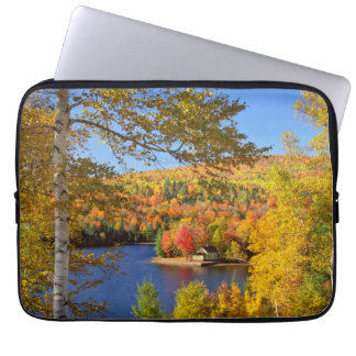 Autumn tree landscape, Maine Laptop Sleeve