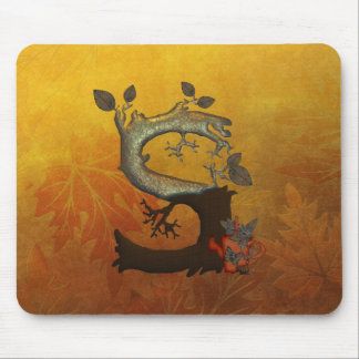 Autumn Tree Monogram S Mouse Pad