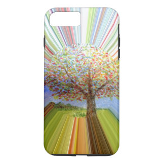 Autumn Tree Multicolored Stripes iPhone 7 Plus Case