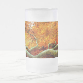 Autumn - Tree - Serpentine Frosted Beer Mug
