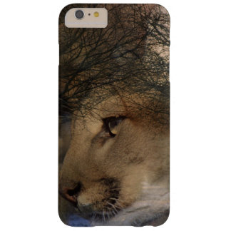 Autumn tree silhouette mountain lion wild cougar barely there iPhone 6 plus case