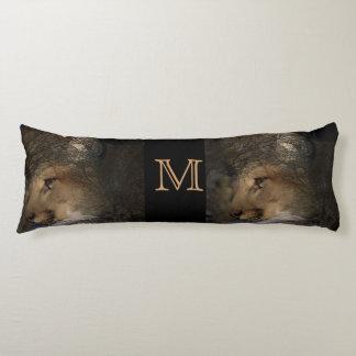 Autumn tree silhouette mountain lion wild cougar body pillow