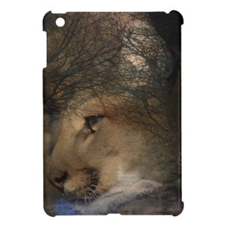 Autumn tree silhouette mountain lion wild cougar iPad mini covers