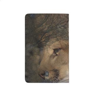 Autumn tree silhouette mountain lion wild cougar journal